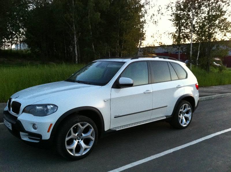BMW X5, белый, 2008. Аренда VIP-такси в Минске