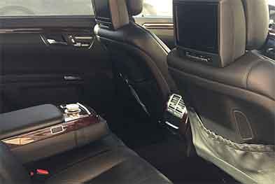 Mercedes W221 салон задние сиденья