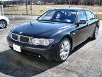 BMW 745Li, black