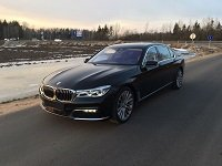 BMW 750 long, G12, black