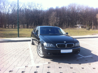 BMW 750Li, черный, 2003