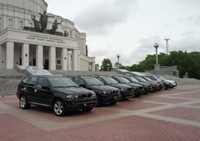 BMW X5, черный, 2010