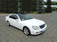 Mercedes S400L W220, white