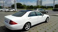 Mercedes S400L W220, белый, 2004