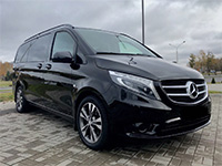 Mercedes V-class черный (7 мест), 2015