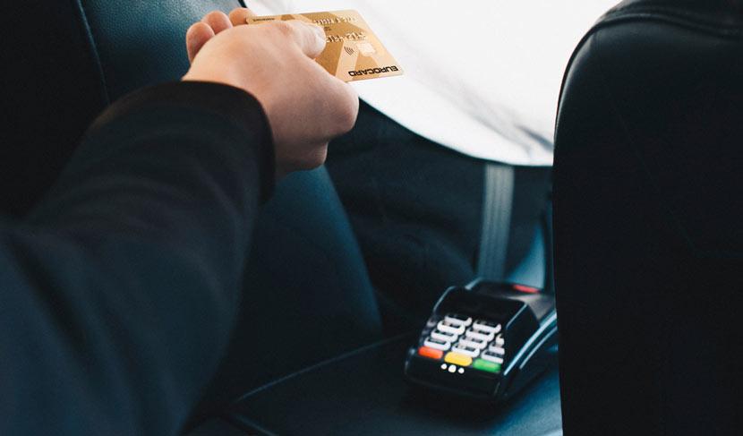 Оплата картой за такси